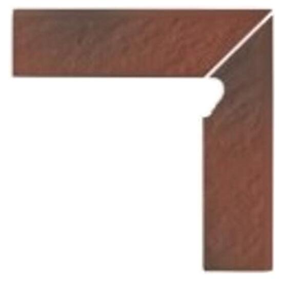 Klinkier Shadow red cokół schodowy prawy strukturalny 3-d 30x8