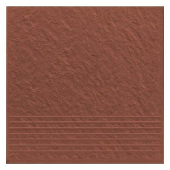 Klinkier Simple red stopień strukturalny 3-d 30x30