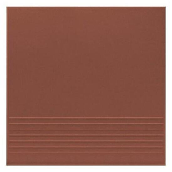 Klinkier Simple red stopień 30x30