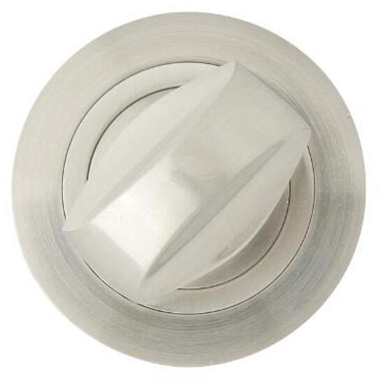 Szyld drzwiowy okrągły 980 WC nikiel lakierowany Domino