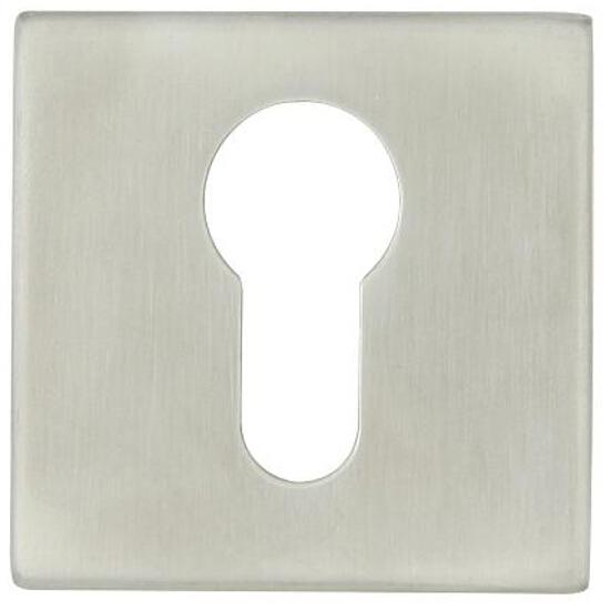 Szyld drzwiowy kwadratowy SN04 wkładka bębenkowa stal nierdzewna Domino