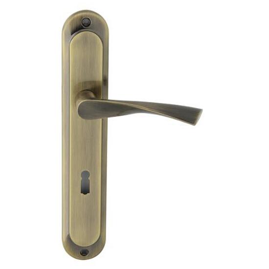 Klamka drzwiowa GIUSSY szyld długi klucz brąz grafiatto Domino