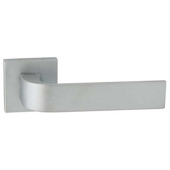 Klamka drzwiowa FARO-QR szyld dzielony kwadratowy chrom satyna velvet TUPAI