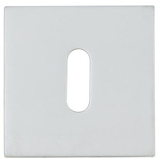 Szyld drzwiowy kwadratowy KWADRAT-QR klucz chrom satyna velvet TUPAI