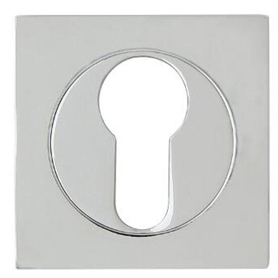 Szyld drzwiowy kwadratowy QUADRO-QR wkładka bębenkowa chrom lakierowany Domino