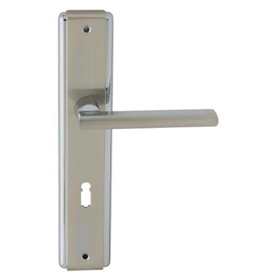 Klamka drzwiowa JANE szyld długi klucz chrom/nikiel lakierowany Domino