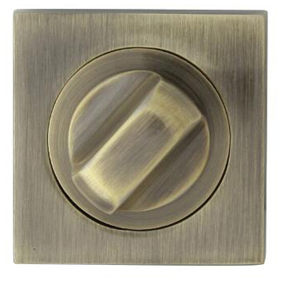 Szyld drzwiowy kwadratowy QUADRO-QR WC brąz grafiatto Domino