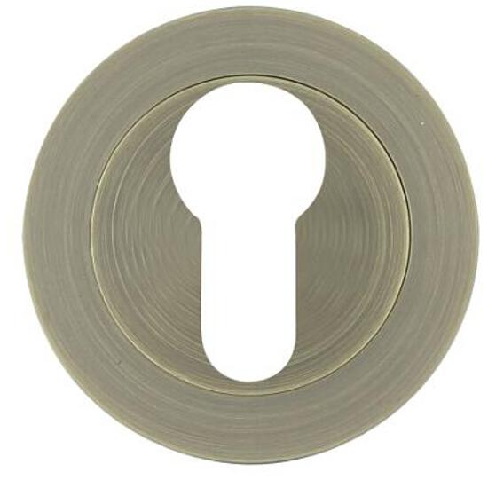 Szyld drzwiowy okrągły 950 wkładka bębenkowa brąz mat Domino
