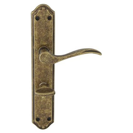 Klamka drzwiowa VENUS szyld długi WC brąz grafiatto antyk ROSSETTI