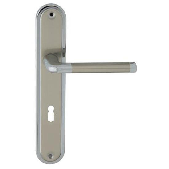 Klamka drzwiowa ELIZABETH szyld długi klucz chrom/nikiel lakierowany Domino
