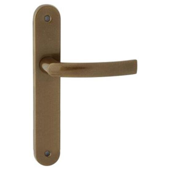 Klamka drzwiowa PRO szyld długi bez otworu brąz grafiatto Domino