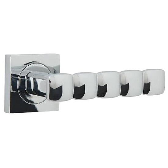 Klamka drzwiowa CORAL-QR szyld dzielony kwadratowy chrom lakierowany Domino