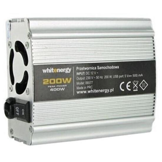 Przetwornica samochodowa DC 24VAC 230V 200W + USB 06578 Whitenergy