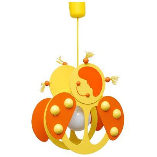 Lampa sufitowa dziecięca Biedronka 020501 żółto-pomarańczowa Klik