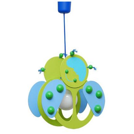 Lampa sufitowa dziecięca Biedronka 020503 zielono-niebieska Klik