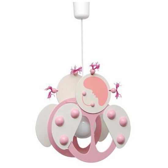 Lampa sufitowa dziecięca Biedronka 020508 biało-różowa Klik