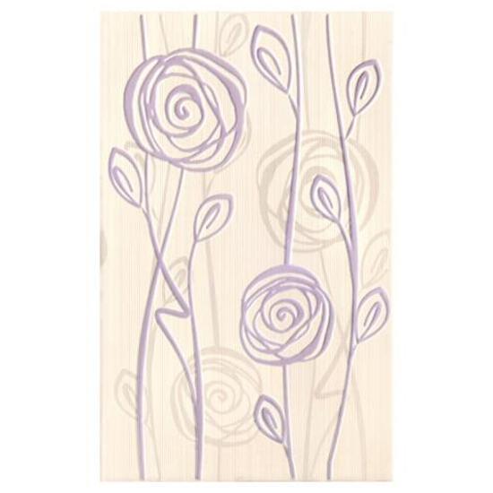 Płytka ścienna inserto Rosaria bianco 25x40