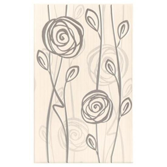 Płytka ścienna inserto Rosaria grys 25x40 Cersanit
