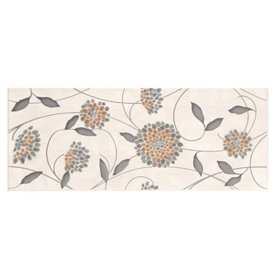Płytka ścienna Synthia grys inserto kwiatek 20x50