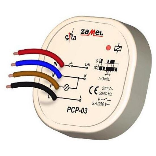 Przekaźnik czasowy 230V AC typ: PCP-03 Zamel