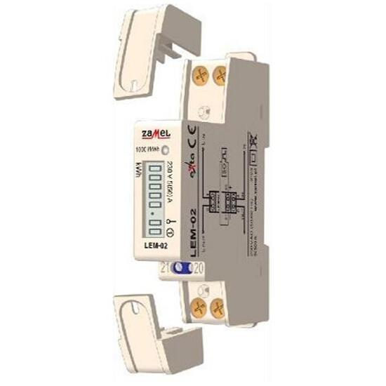 Licznik energii cyfrowy 1-fazowy typ: LEM-02 Zamel