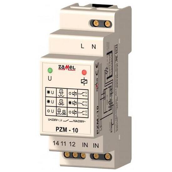 Przekaźnik instalacyjny zalania z sondą SZH-03 230VAC/16A typ: PZM-10 Zamel