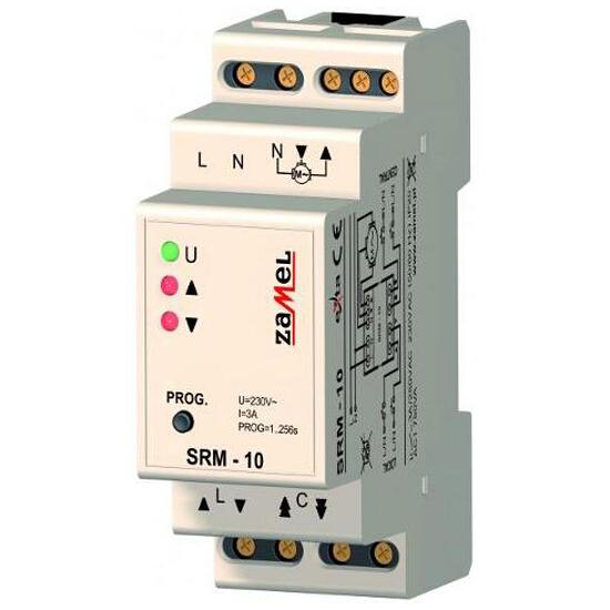 Sterownik rolet 2-modułowy 230V 2A typ:SRM-10 Zamel