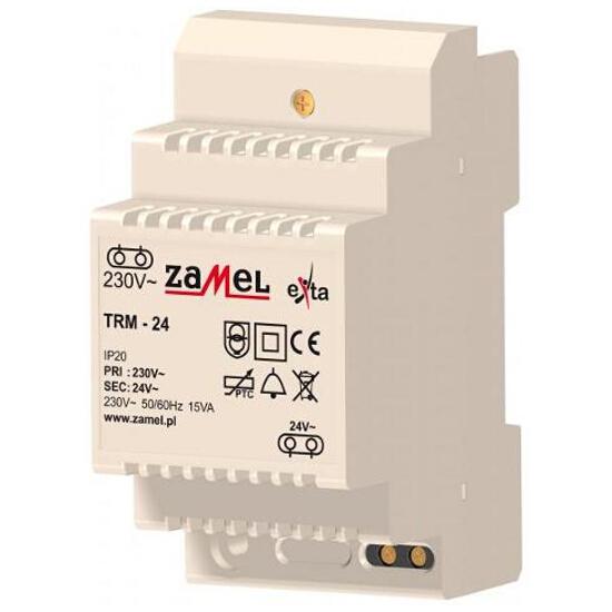 Transformator na szynę T-35 230V/24V typ:TRM-24 Zamel