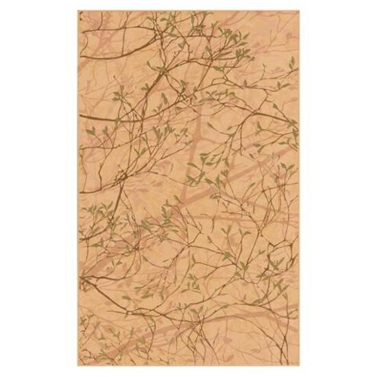 Płytka ścienna Liryka orange inserto gałązka 25x40