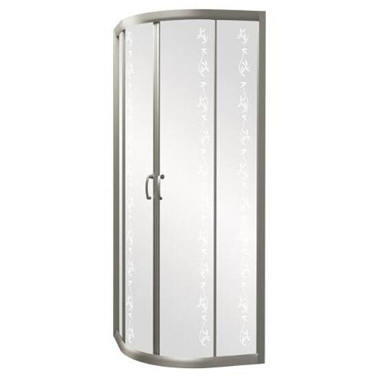 Kabina prysznicowa półokrągła CARMEN NEW 80, profil anodowany, YUCCA S136-003