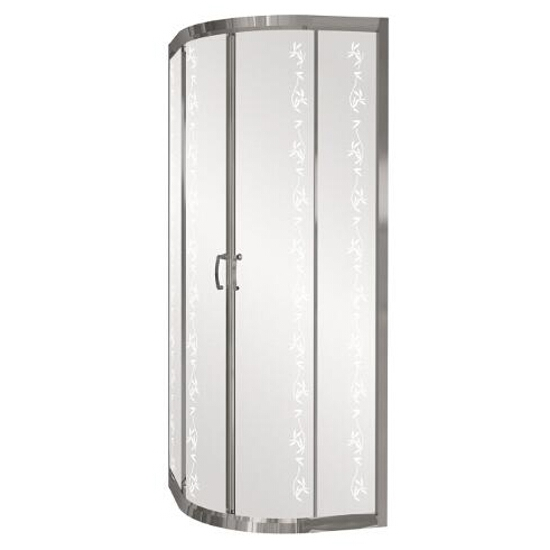 Kabina prysznicowa półokrągła CARMEN NEW 80, profil chromowany, YUCCA S136-007