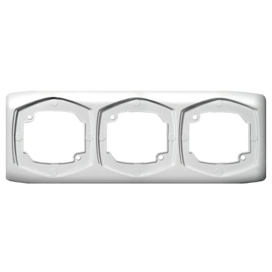 Ramka TON potrójna pozioma biały Ospel