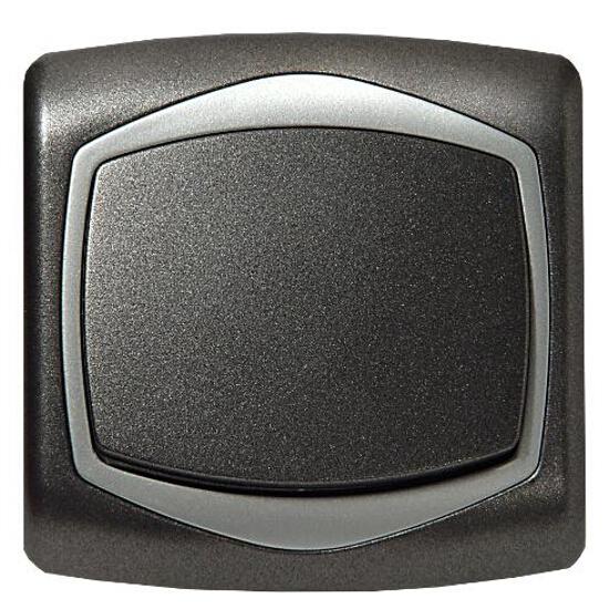 Łącznik TON METALIC jednobiegunowy grafit srebro Ospel