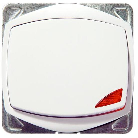Łącznik modułowy TON COLOR SYSTEM zwierny światło z podśw. biały Ospel