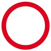 """Znak informacyjny """"Zakaz ruchu"""" Z-DW111-P rozm. 330x330 ANRO"""