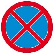 """Znak informacyjny """"Zakaz zatrzymywania się"""" Z-DW114-P rozm. 330x330 ANRO"""