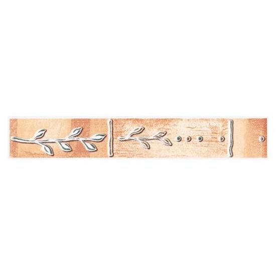 Płytka ścienna Cyrkona ochra listwa gałązka 25x4,2