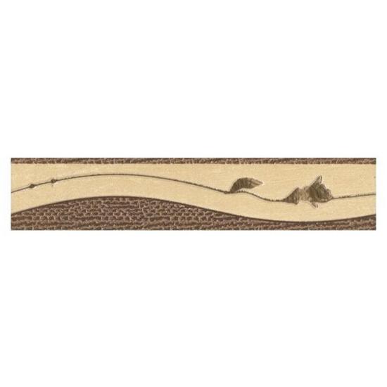 Płytka ścienna Tenera brown listwa róża 25x5