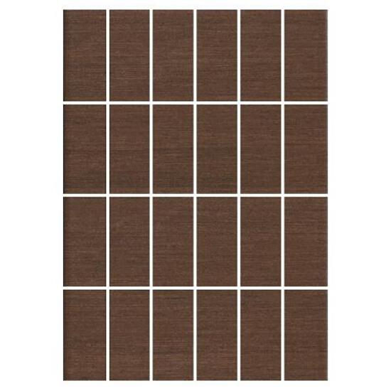 Mozaika Tenera brown prostokąt 25x35
