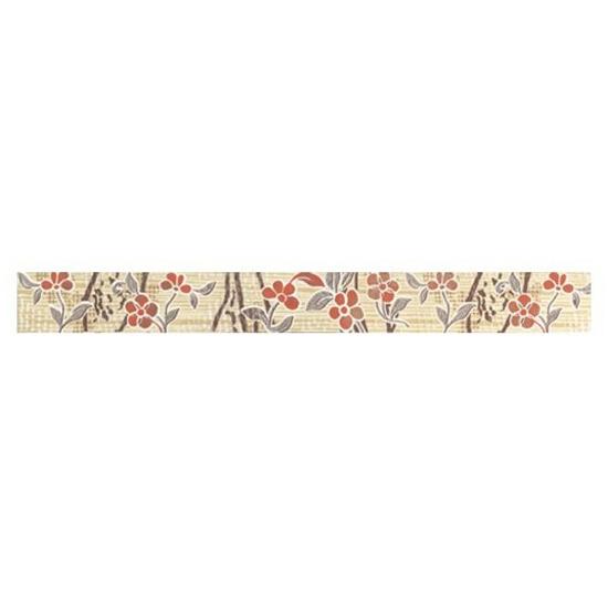 Płytka ścienna Symfonia beige listwa kwiatek 50x5,3