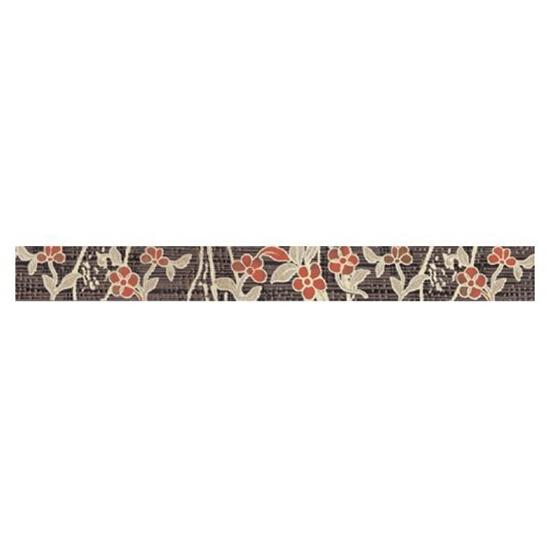 Płytka ścienna Symfonia brown listwa kwiatek 50x5,3