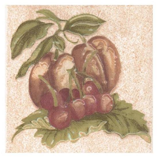Płytka ścienna Ariza bianco motyw owoce 3 10x10