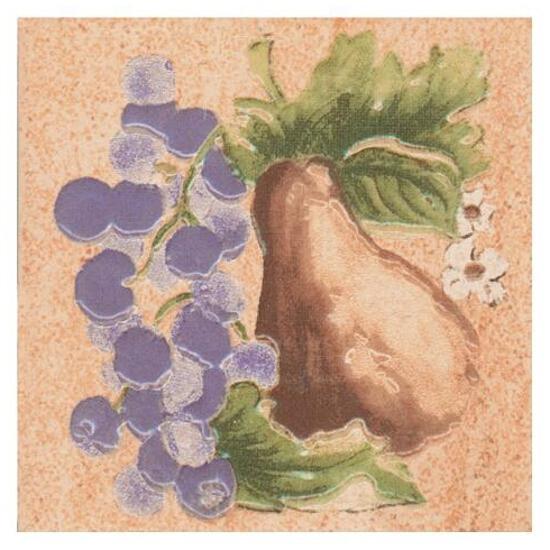 Płytka ścienna Ariza beige motyw owoce 1 10x10