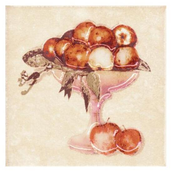 Płytka ścienna Sagra beige motyw owoce 2 10x10