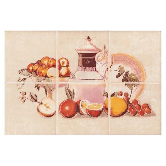 Płytka ścienna Sagra beige kompozycja owoce 20x30