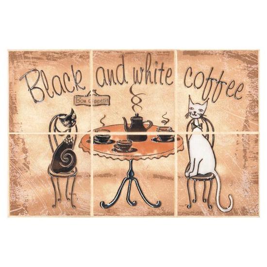 Płytka ścienna Sagra giallo kompozycja coffee 20x30