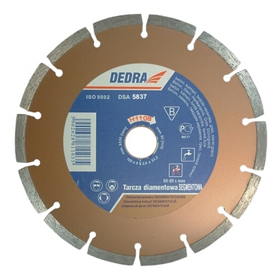 Diamentowa tarcza tnąca segmentowa 150/22,2 H1110 Dedra