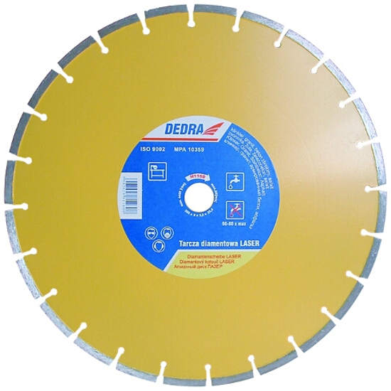 Diamentowa tarcza tnąca Laser 180/22,2 H1155 Dedra