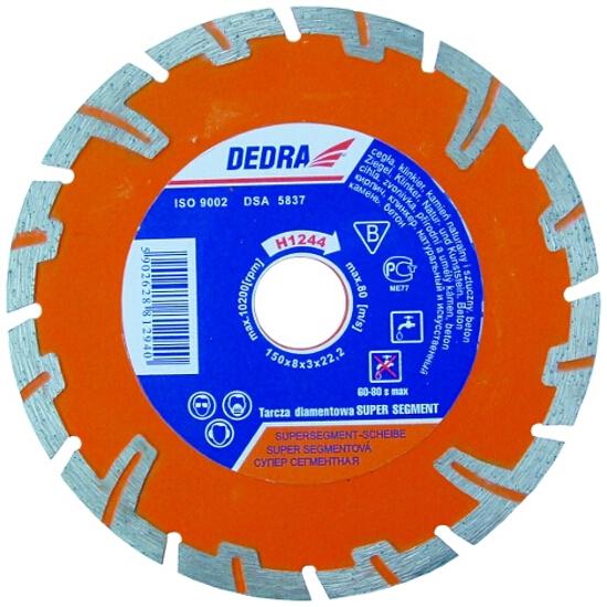 Diamentowa tarcza tnąca Super Segment 180/22,2 H1245 Dedra