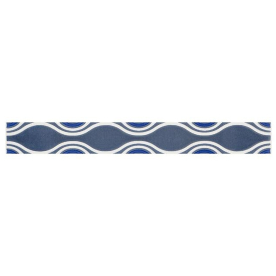 Płytka ścienna Vivian Blue listwa Fala 4,8x40 Paradyż
